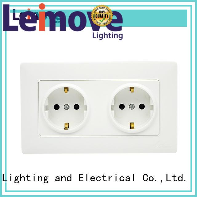 gang socket outlet Leimove Brand socket outlet supplier