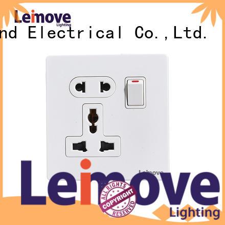 Leimove stainless steel international power socket OEM custom
