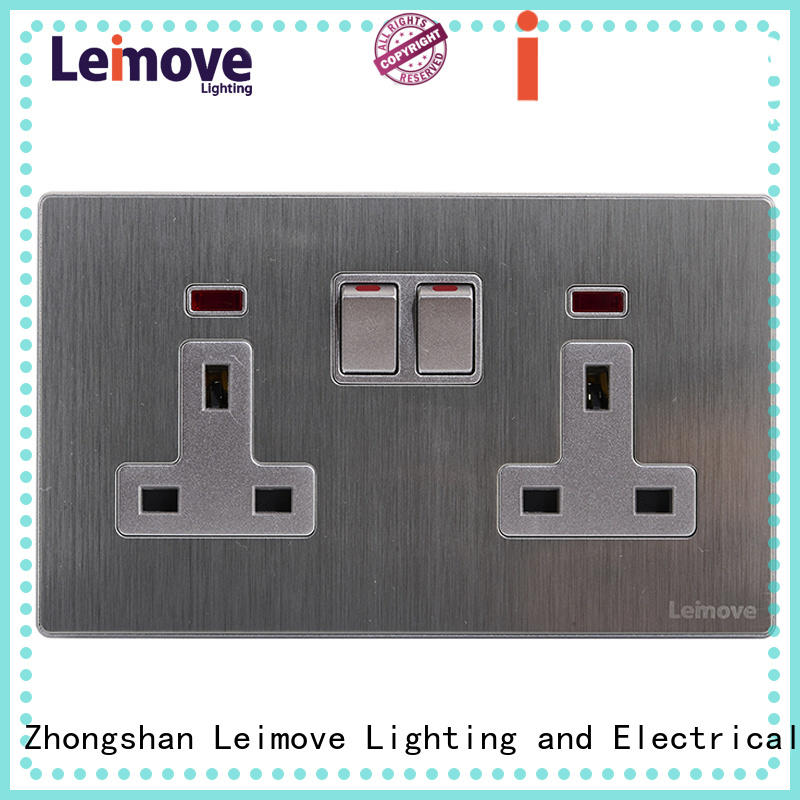 Leimove sand stone three plug socket wholesale at discount