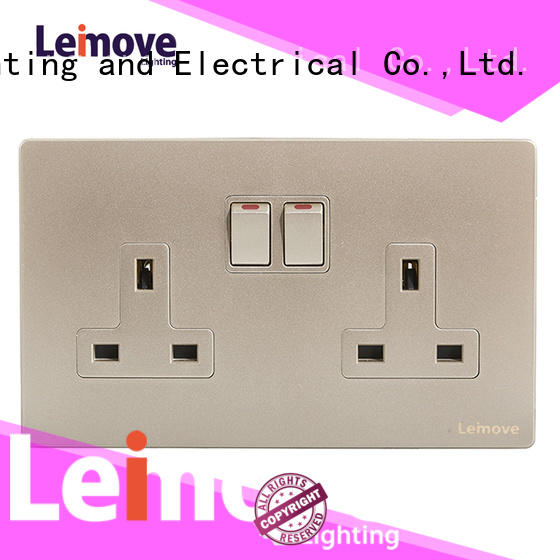Leimove gold electrical plugs and sockets wholesale at discount