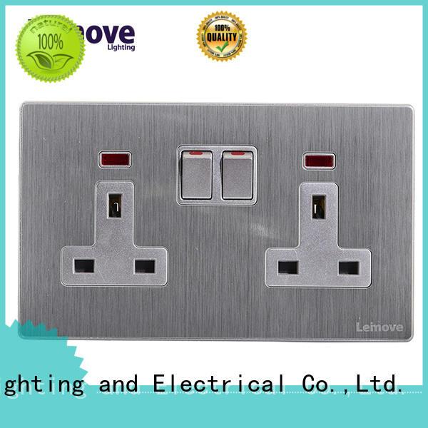 Leimove wire drawing receptacle socket wholesale custom