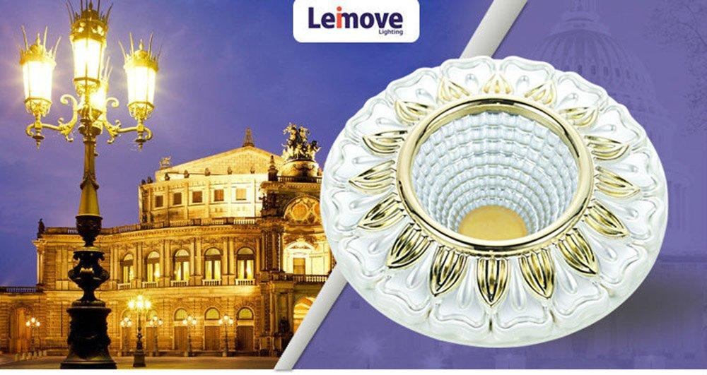 Leimove gold adjustable led spotlights ceiling for decoration-2