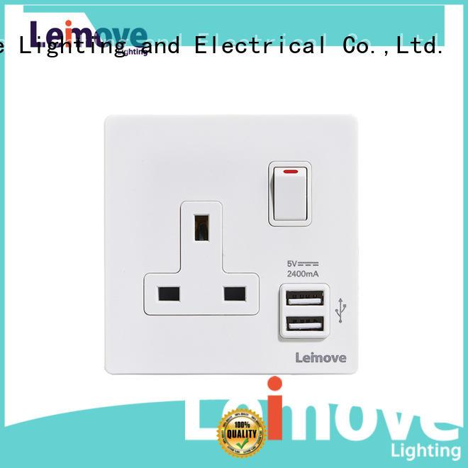 Leimove stainless steel 2 pin plug and socket OEM custom