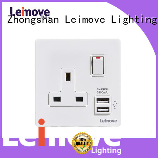 Leimove custom 3 pin power socket wholesale factory price