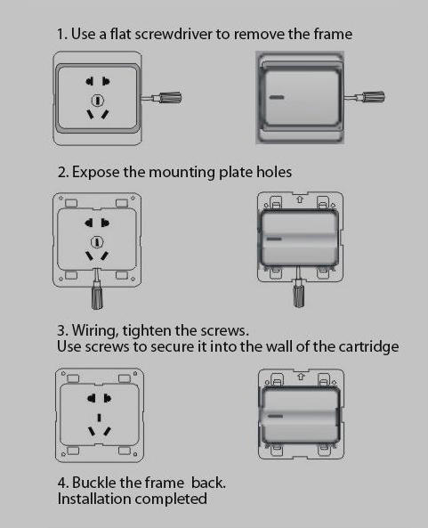 Leimove-Find Light Switches And Sockets 10a One Gang 1 Way Electrician Wall Switch-2
