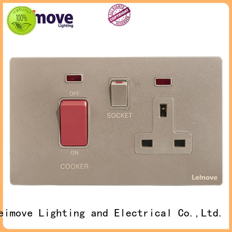 Leimove stainless steel new electrical sockets OEM factory price