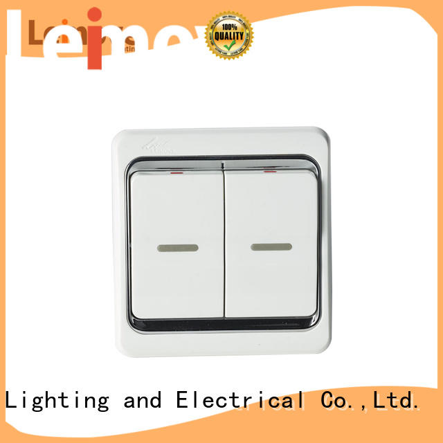 Custom wall three switches and sockets Leimove electrician