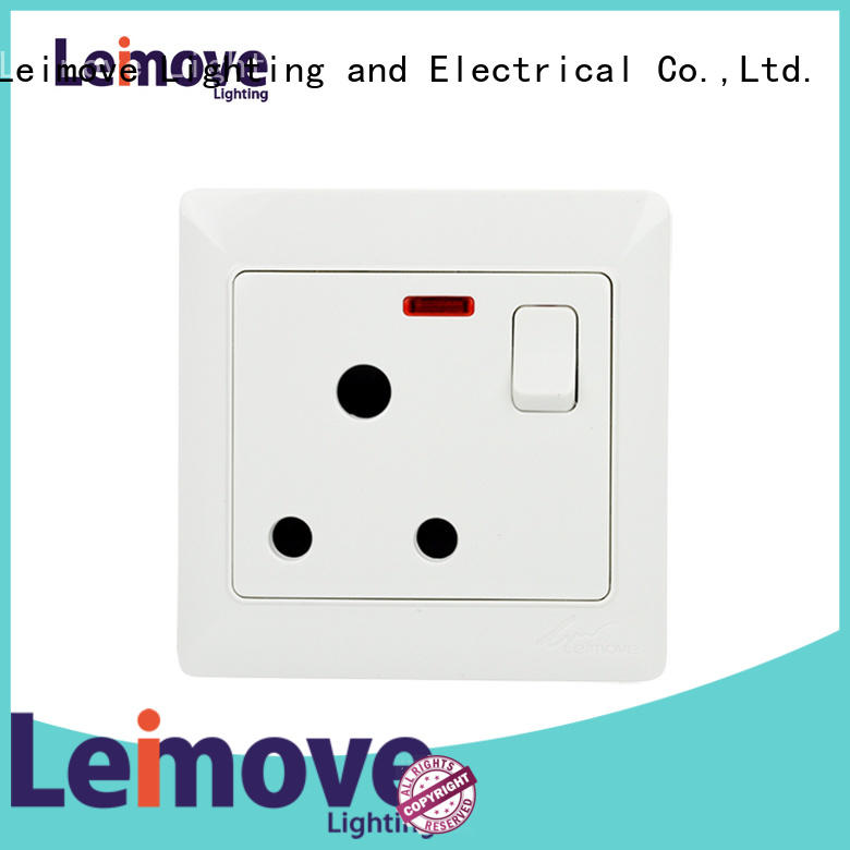 Leimove double electric plug sockets for customization