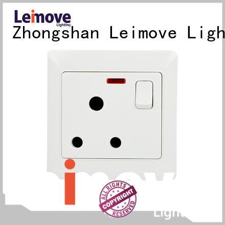 double european socket outlet fluorescent Leimove company