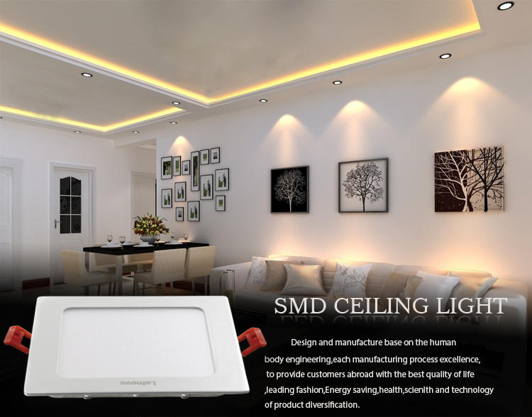 Ceiling Light Design, Milky White RoHS CE ,145x145 9w SMD Led Ceiling Light Panel LM-PB-YK409-1