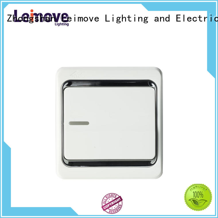 double modern switches and sockets four position for wholesale Leimove