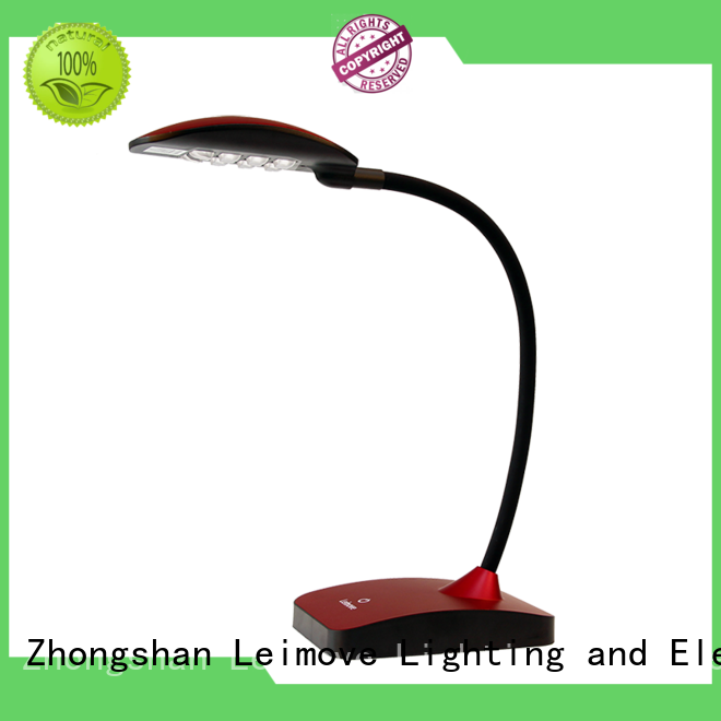 lamp blue modern led desk lamp brown rose Leimove Brand