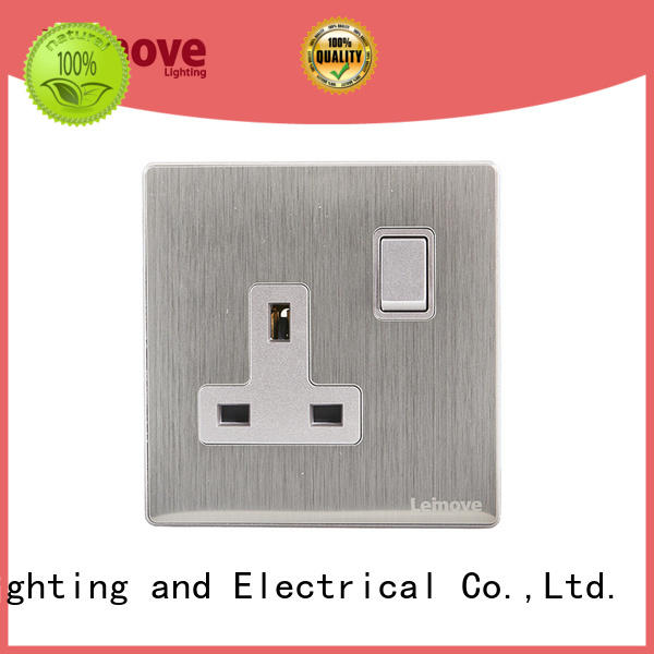 stainless steel plug socket outlet wholesale factory price Leimove