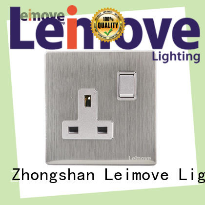 Leimove custom silver plug sockets OEM custom