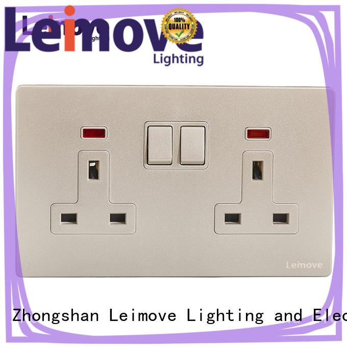 Leimove lingmai series international plug sockets OEM factory price