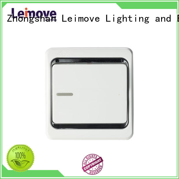 Leimove four position light switches and sockets good appearance for wholesale