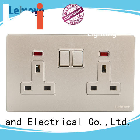 power plugs and sockets stainless steel factory price Leimove