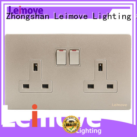 Leimove sand stone three plug socket stainless steel factory price