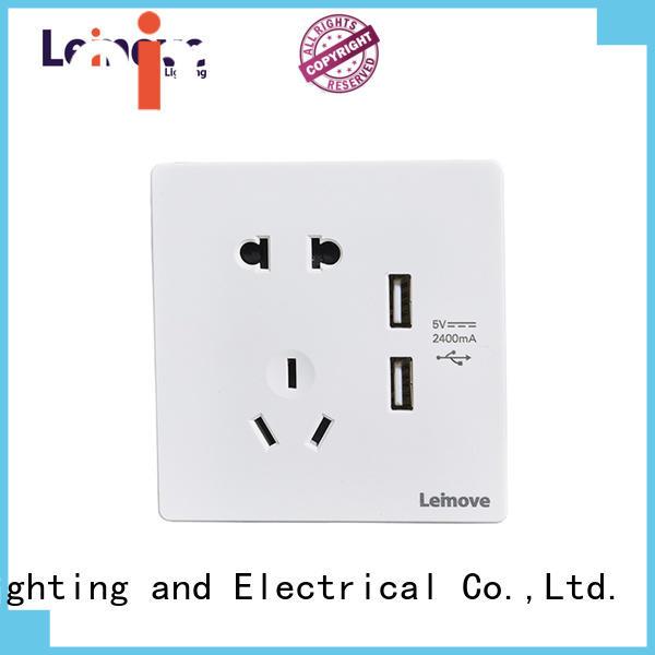 Leimove sand stone cheap plug sockets OEM factory price
