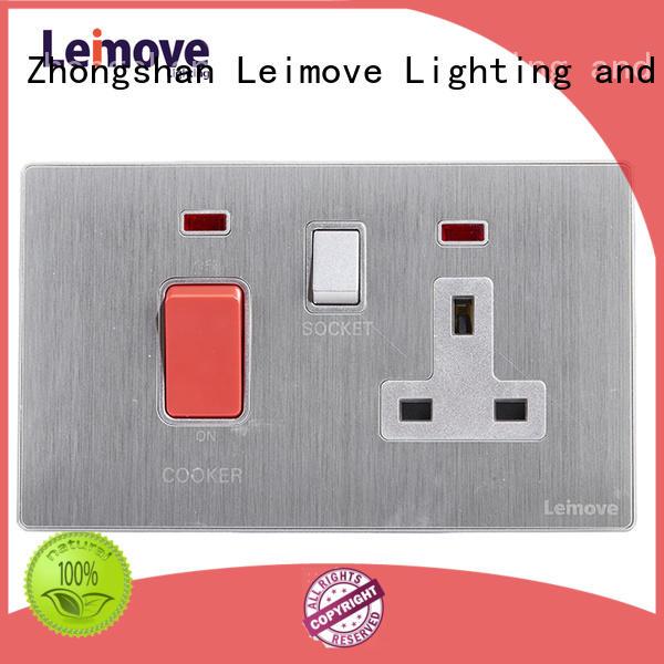 Leimove custom black electrical sockets ODM custom