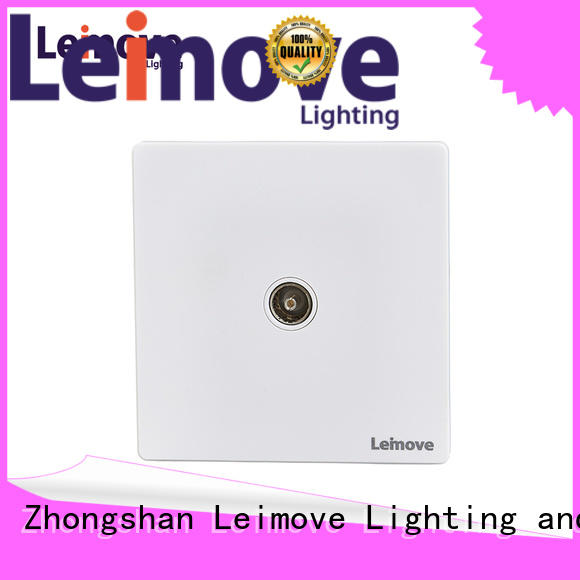 Leimove feather white lan socket free sample for sale