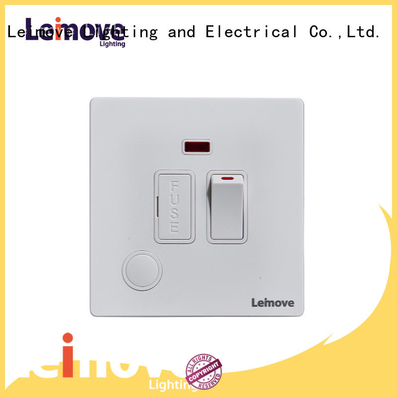 Leimove feather white brushed gold light switches universal for customization