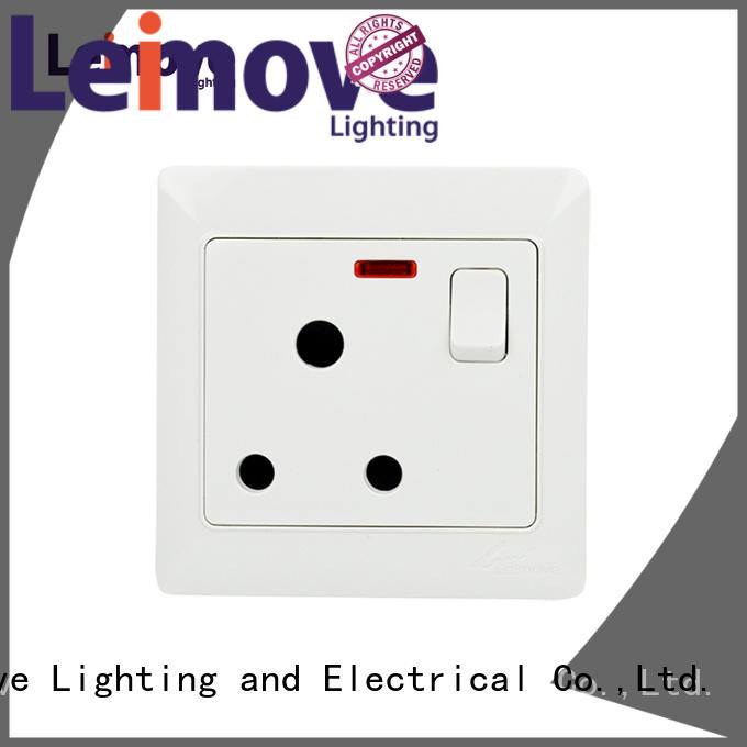 Wholesale fluorescent wall power socket Leimove Brand