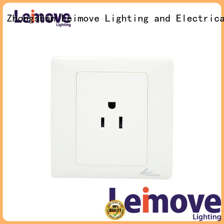 Leimove wall-mounted socket outlet fine workmanship for customization