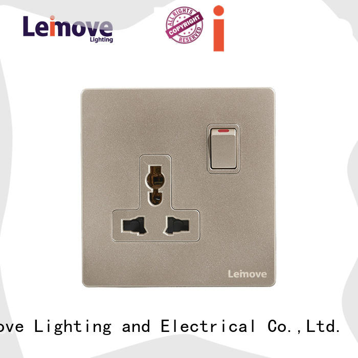 gold cheap plug sockets lingmai series ODM at discount