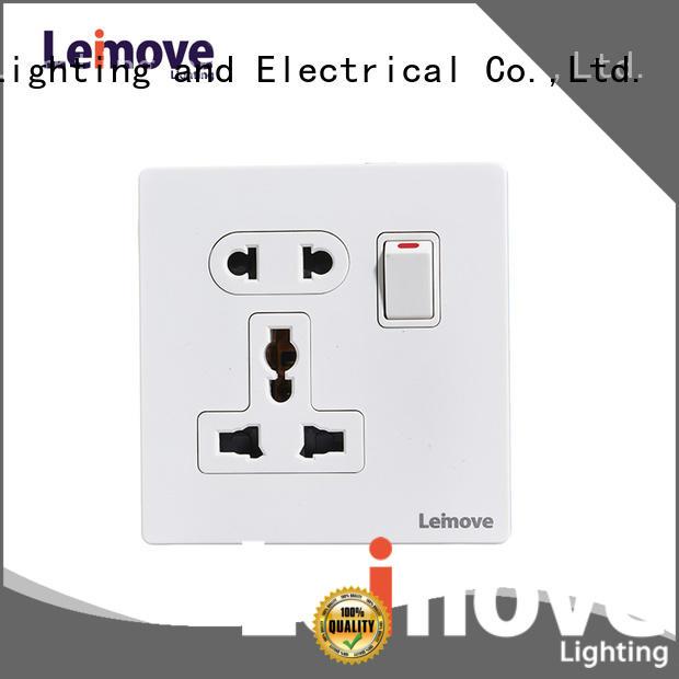 Leimove custom single electric socket ODM at discount