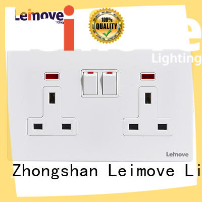 Leimove sand stone black wall sockets wholesale factory price