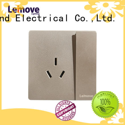 Leimove wire drawing power plug socket wholesale custom