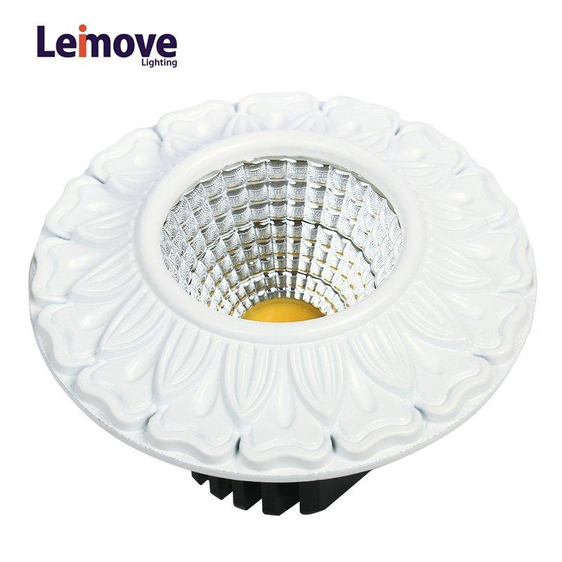 Leimove-Decorative 10w gu10 Led Cob Downlight LM8019 matte whlte-2