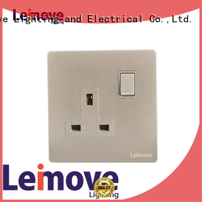 Leimove gold power plugs and sockets wholesale custom