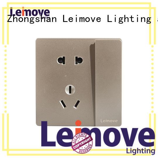 lingmai series new electrical sockets wire drawing custom Leimove