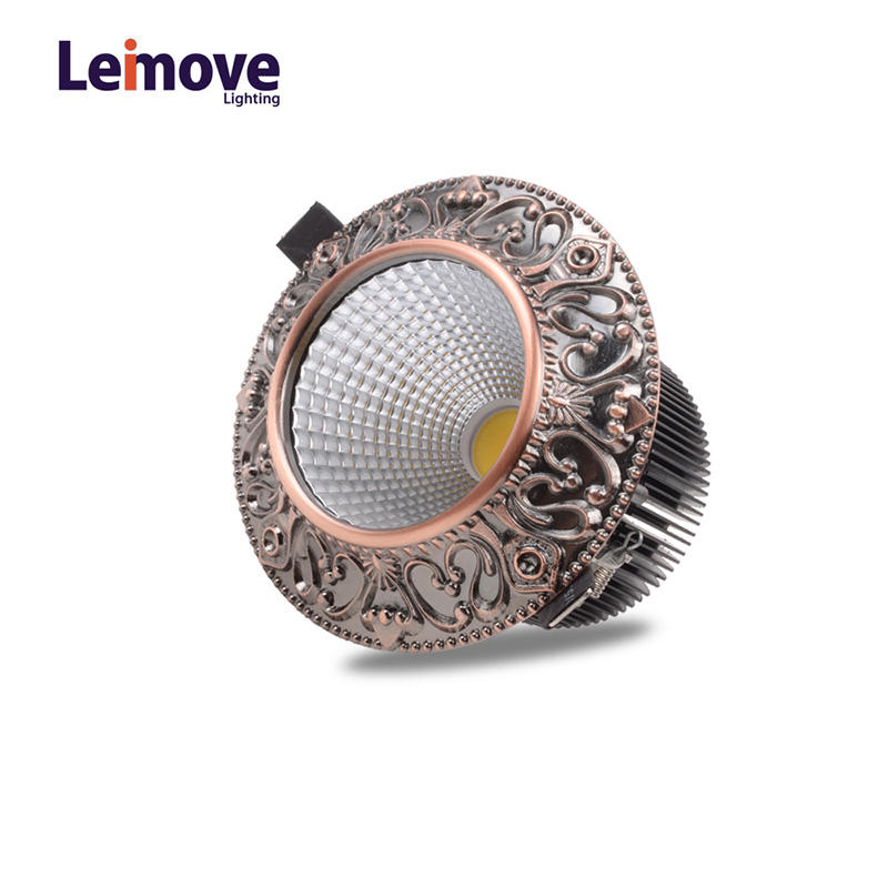 Leimove-Leimove 10w Slim Led Round DownlightLm8017 Matte Gold-2