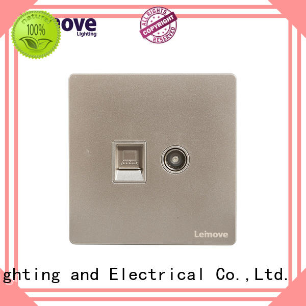 stainless steel tv socket lingmai series at discount high quality