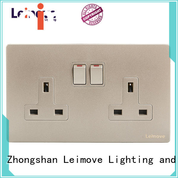 Leimove wire drawing double electric socket ODM factory price