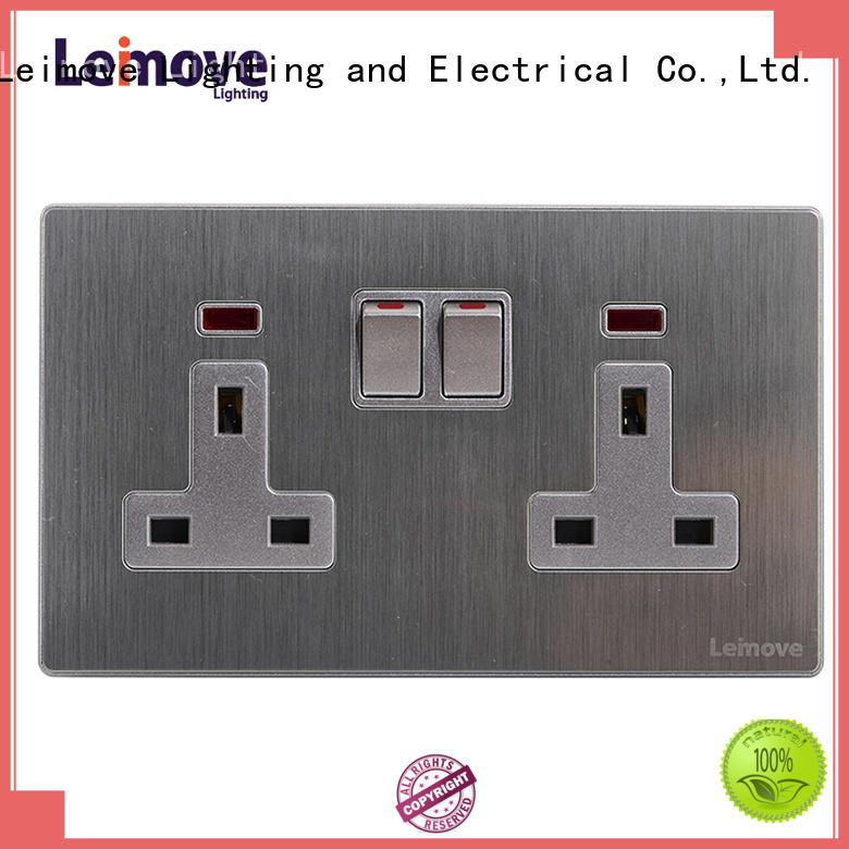stainless steel black plug sockets wire drawing at discount Leimove