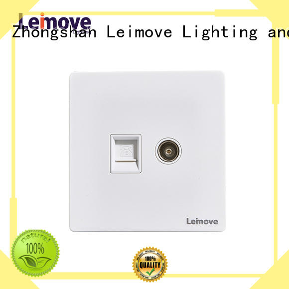 Leimove wire drawing tv wall socket feather white for sale