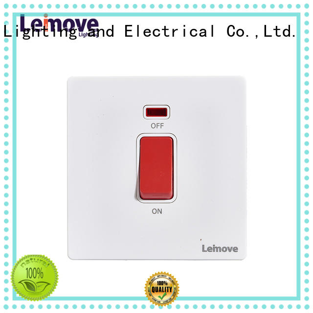 Leimove feather white house electrical switches top manufacturer for customization
