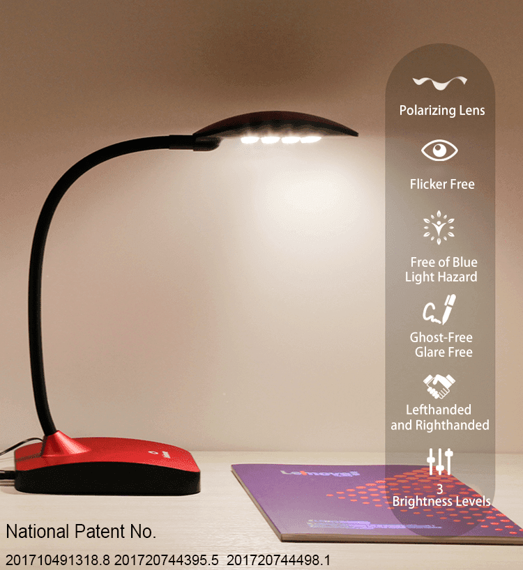 Leimove-Led Table Lamp Dimmable Lamps Eye Protection Reading Lamps Lmhyt-12 Brown-2