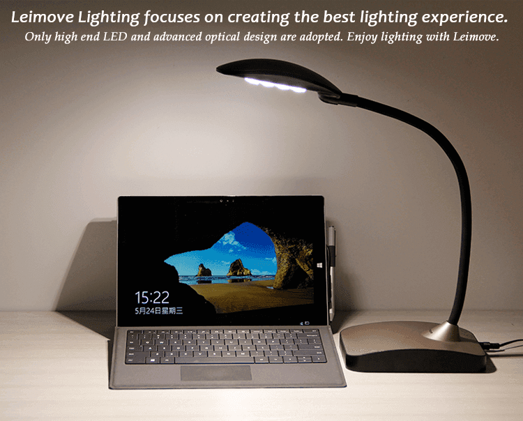 Leimove-Led Reading Lamp Led Table Lamp Dimmable Lamps Eye Protection Reading