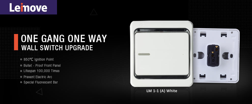 Leimove-10a One Gang 1 Way Electrician Wall Switch | Electrical Switches And Sockets