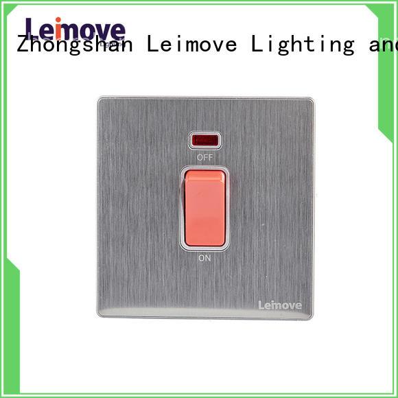 Leimove feather white modern white light switches universal for customization