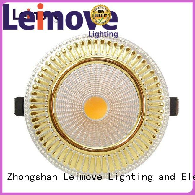 Leimove Led 5W 10W 15W Ultra Bright Recessed Ceiling Spot Lights with 120mm cut out  LM8018 matte gold
