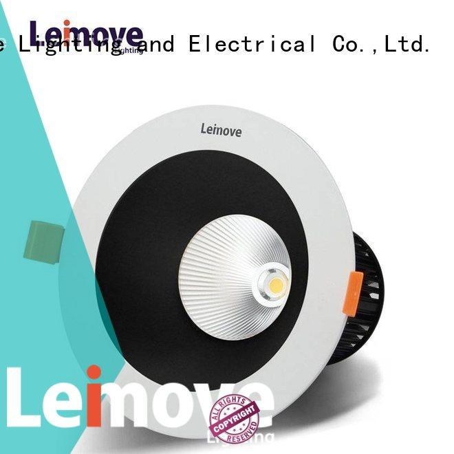 Leimove energy-saving led recessed downlights white milky for wholesale