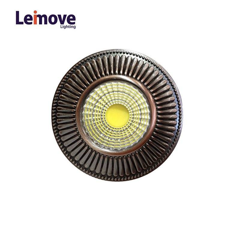 2017 New Cob Dimmable Led Down light in China With 120mm Cut Out LM8018 Copper