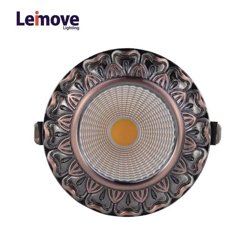 Decorative 10w Led Cob Down light  LM8019 Copper