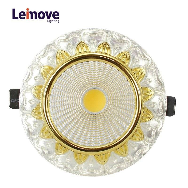 Decorative 10w Led Cob Down light LM8019 pearl silver/gold